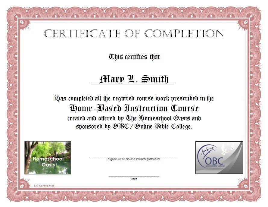 High Quality Qu0027s U0026 Au0027s About Homeschool Course (Homeschool ...  Computer Course Completion Certificate Format