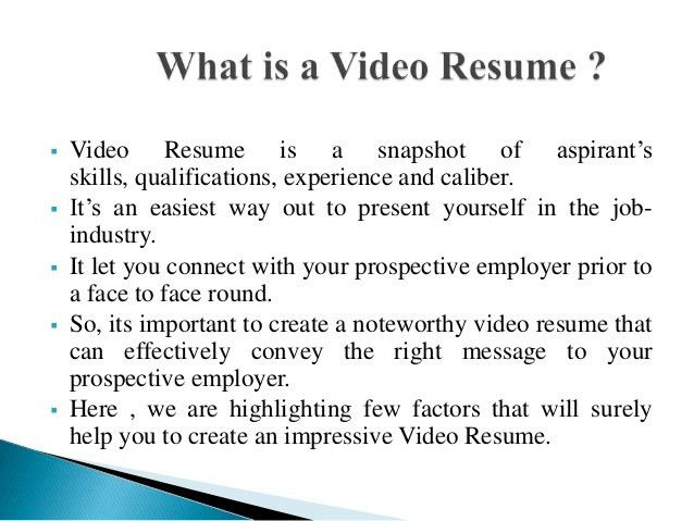 Create a Noteworthy Video Resume