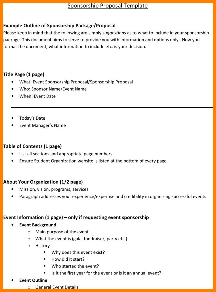 9+ sample sponsorship proposal | lease template