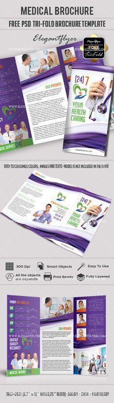 Medical – Free Brochure PSD Template https://www.elegantflyer.com ...