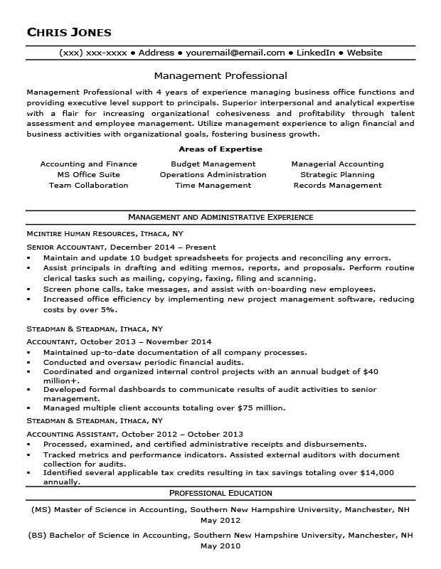 Ideal Resume Here Is An Ideal Resume For A Mid Level Employee