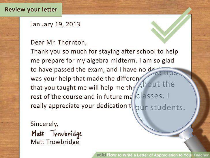 Appreciation Letter. Image Titled Write A Customer Appreciation ...