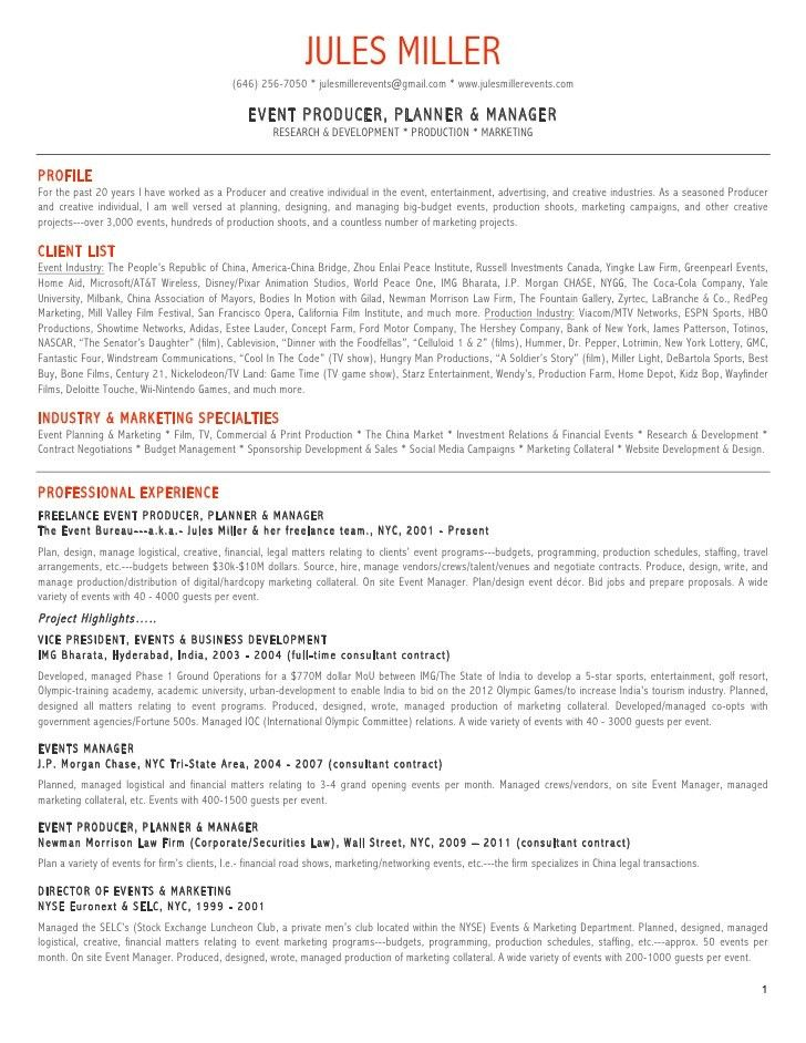 conference planner resume template. 12751650 event planning resume ...