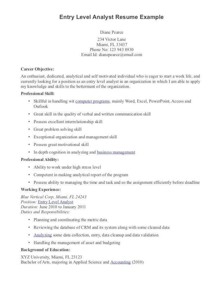 great resume examples entry level entry level resume samples and ...