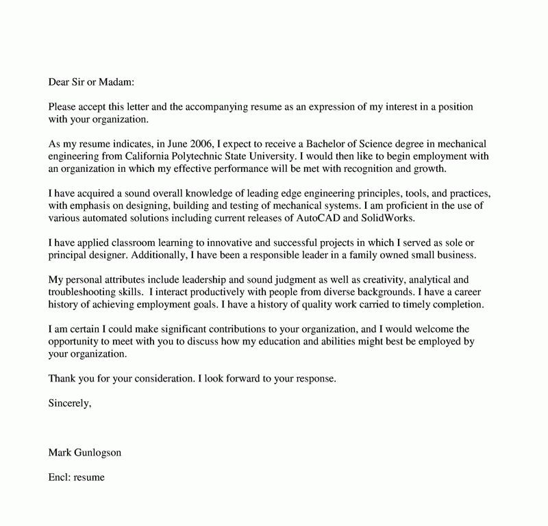 Download Writing An Engineering Cover Letter ...