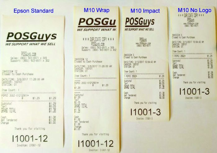 Epson M10 Receipt Format Blog Post | POSGuys.com
