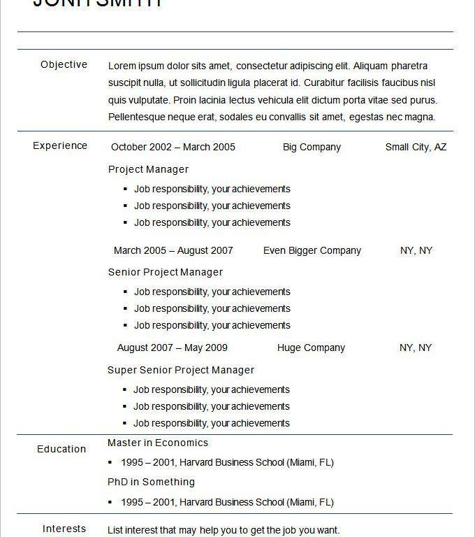 resume format chronological chronological resume template