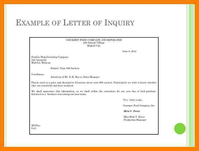 5+ business enquiry letter sample | packaging clerks