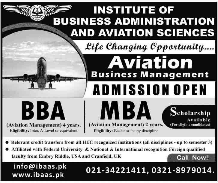 BBA And MBA Aviation Management Admissions in Karachi | LearningAll