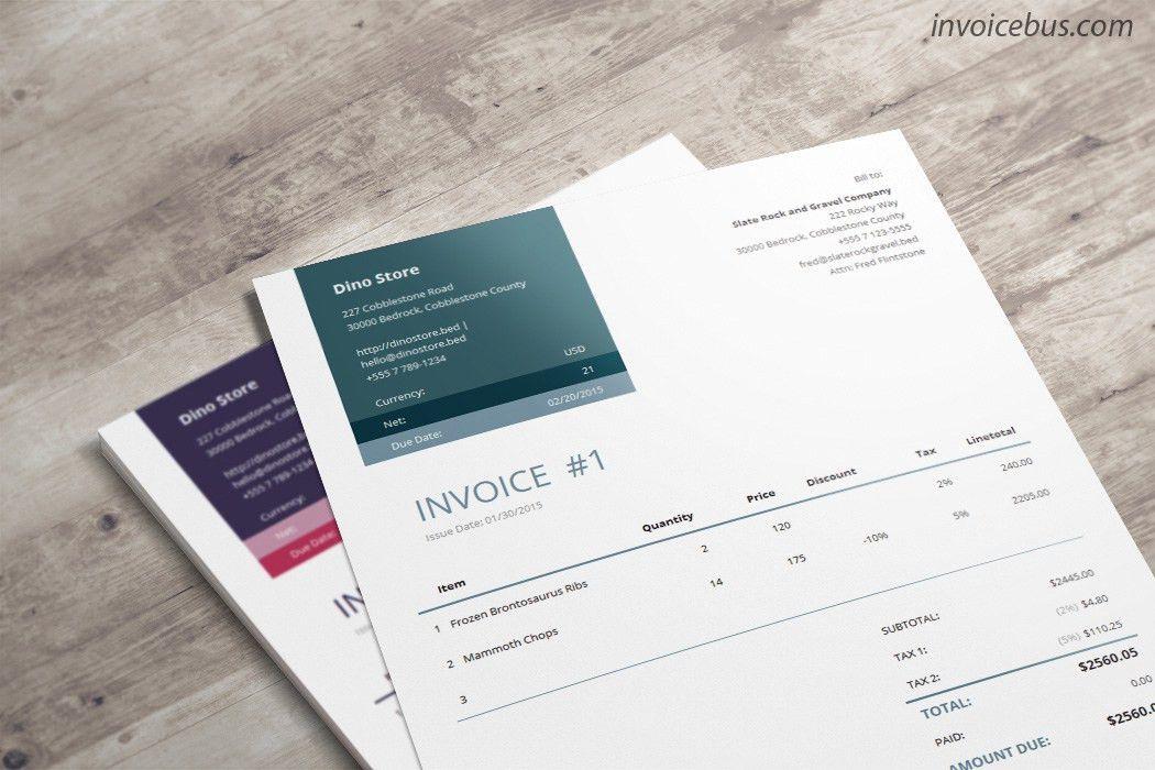 Professional Invoice Template - Loretta