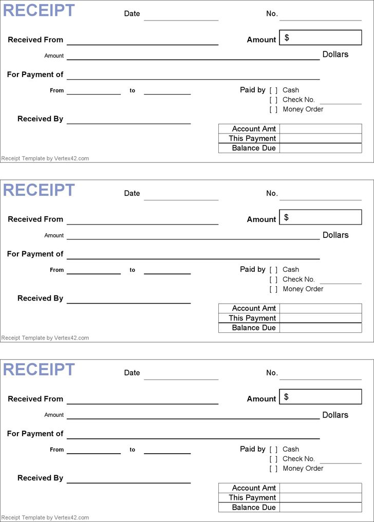 Free Receipt Template Google Doc Word Excel | Cash Rent receipt ...