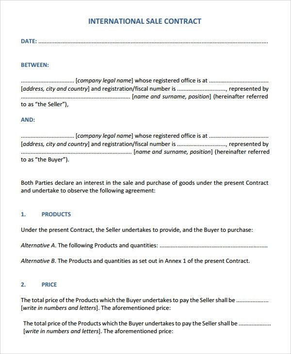 Sample Sales Contract - 7+ Documents in Word, PDF