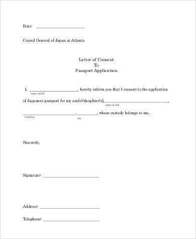 10+ Sample Letter of Consent - Free Documents in word, PDF