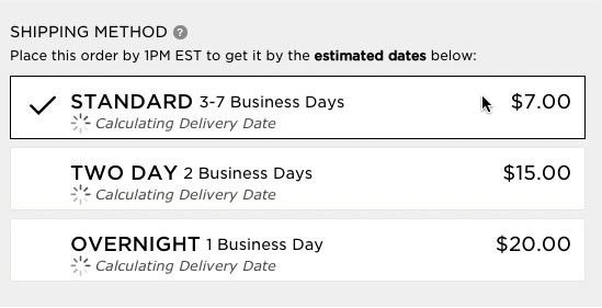 Use 'Delivery Date' Not 'Shipping Speed' – From UX Research to ...