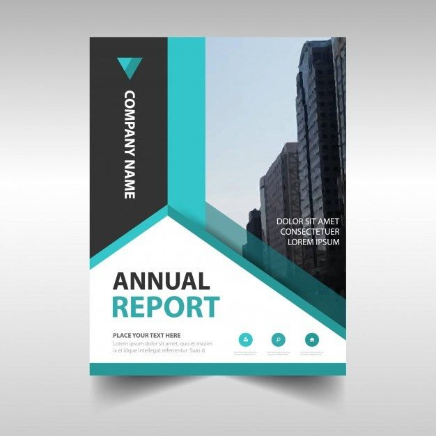 Blue abstract corporate annual report template Vector | Free Download