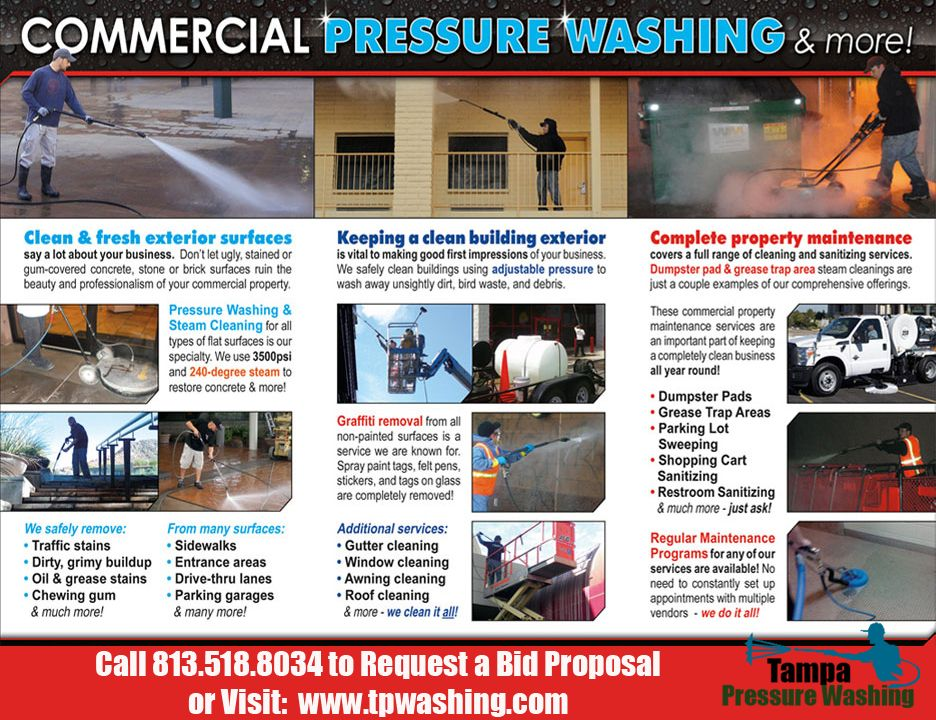 Commercial Power Washing | Tampa Pressure Washing – Tampa FL