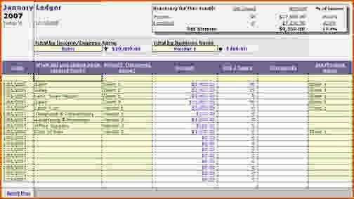 4+ business ledger template - bookletemplate.org