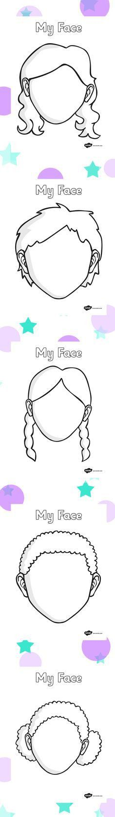 blank face to draw on: | Projects to Try | Pinterest | Face ...
