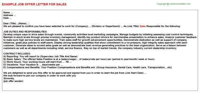 Sales Offer Letter