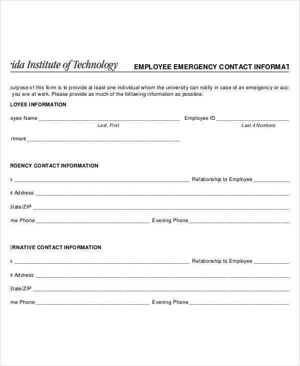 emergency phone number list template