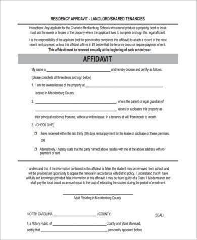 7+ Affidavit of Residency Form Samples - Free Sample, Example ...