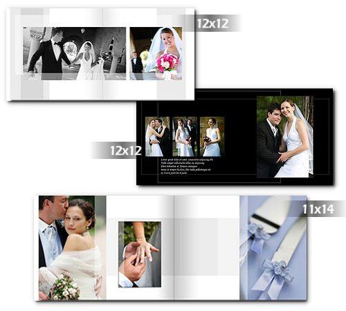 Wedding Albums Templates Photoshop | arc4Studio