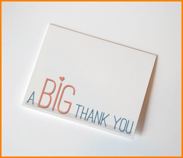 10+ thank you card printable | Letter Template Word