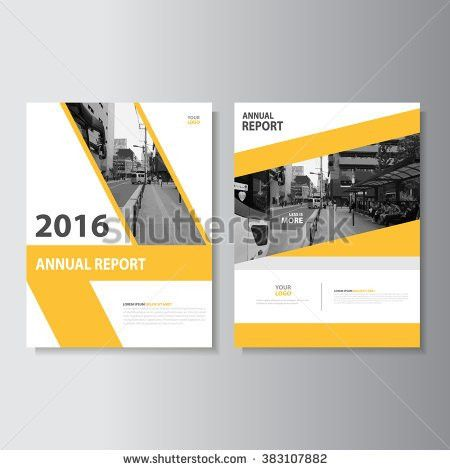 Creative yellow annual report Leaflet Brochure Flyer template A4 ...