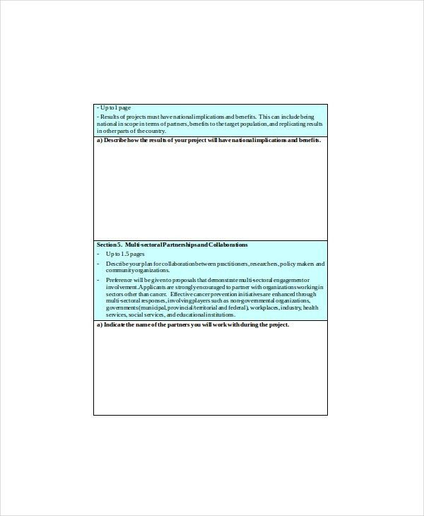 Program Proposal Template - 7+ Free Word, PDF Documents Download ...