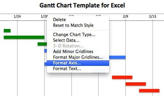 Gantt Chart Template Excel | ebook