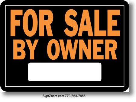 SALE BY OWNER Sign