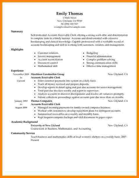 10+ accounts receivable resume | technician resume