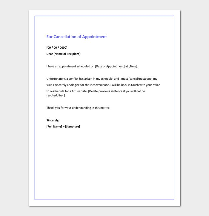 Apology Letter For Cancellation - Samples, Examples & Formats