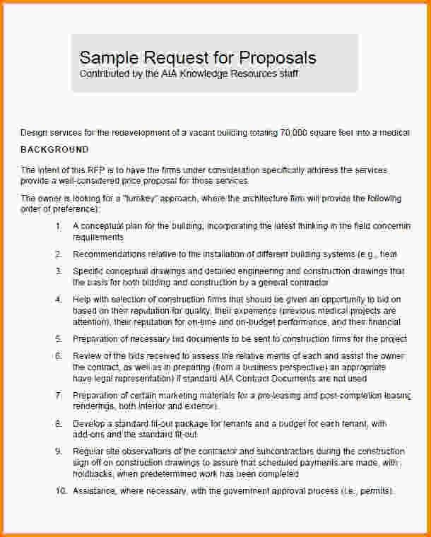 4+ request for proposal template word | Letter Template Word