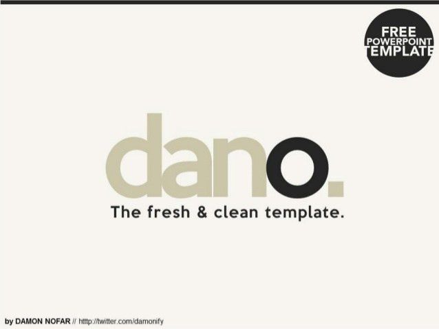 Fresh and Clean Powerpoint Template [Free Download]