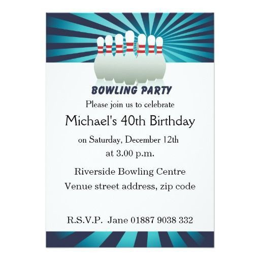 13 best Bowling Themed Party Ideas images on Pinterest | Birthday ...
