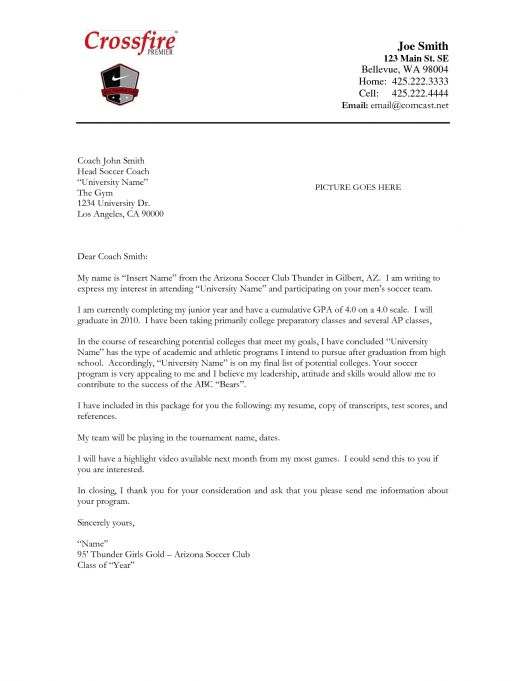 High school graduation coach cover letter