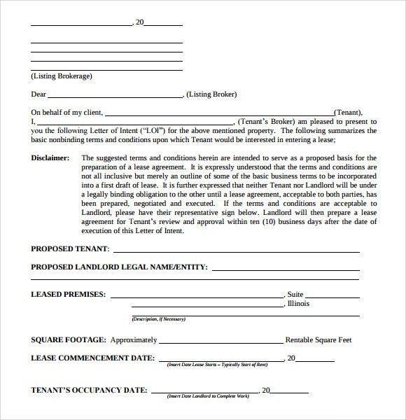 Letter of Intent Real Estate - 9+ Download Free Documents in PDF ...