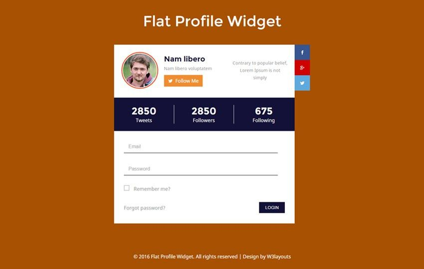 profile - w3layouts.com
