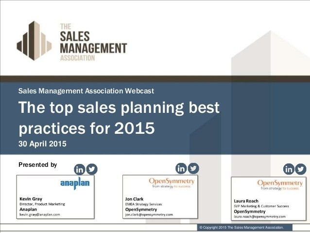 Anaplan and OpenSymmetry Top Sales Planning Best Practices