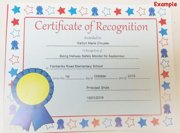Creative Shapes Etc. · Recognition Certificate - Spelling Achievement