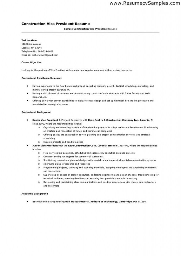 Construction Resume Examples. Construction Resume Example ...