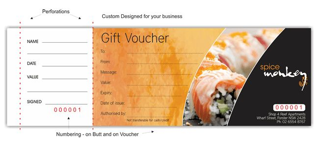 Gift voucher printing | Printed gift vouchers | gift certificate ...