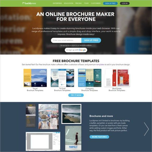 Best Brochure Maker Free Online Brochure Maker Canva Best - Free online brochure template