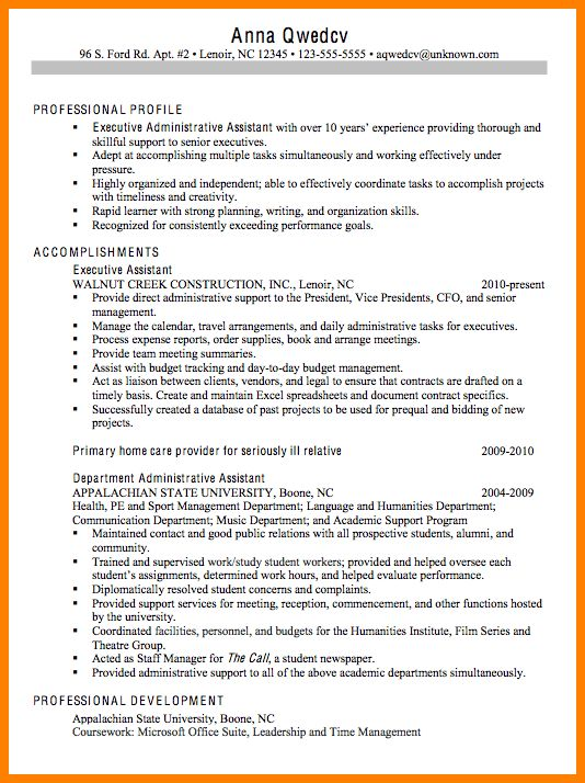 4+ administrative assistant objective sample | technician resume