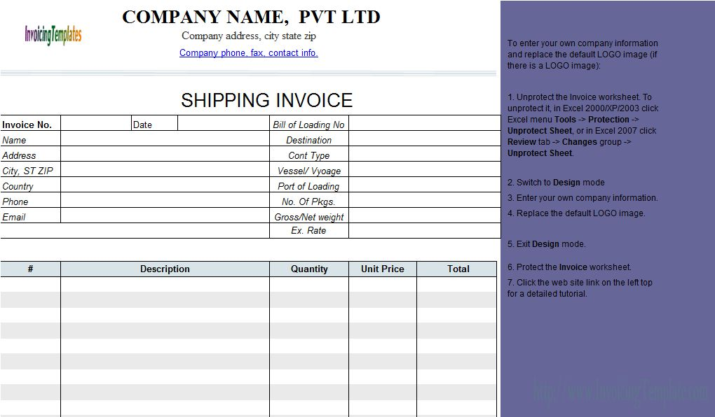Invoice Free Template - Document Templates Download