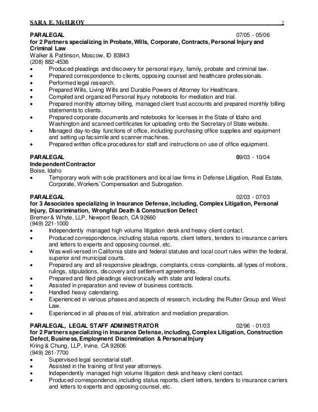2015 Legal Resume 2