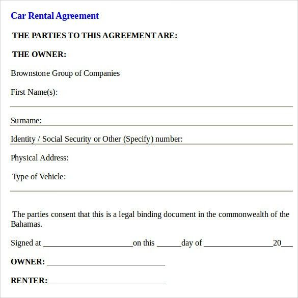 Car Loan Agreement Template Free | Create professional resumes ...