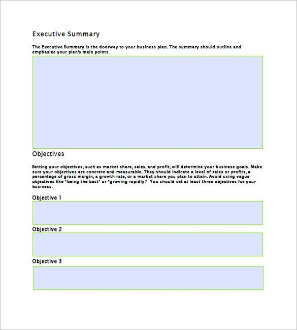 Business Plan Outline Template – 7+ Free Sample, Example Format ...