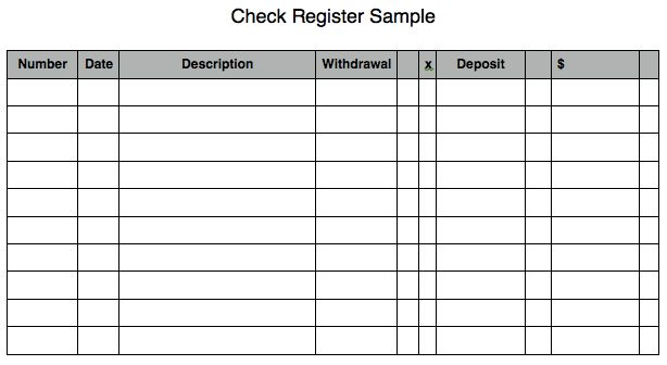 5 Check Register Templates - formats, Examples in Word Excel